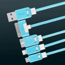 4FT 4 in 1 Multiple USB Charging Cable Adapter Connector