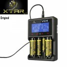 XTAR VC4 LCD Li-ion/Ni-MH USB Battery Charger for 18650 26650 32650 14500 AA AAA Battery Black