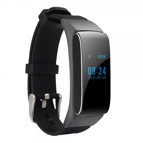 2-in-1 Pedometer Handsfree Sleep Monitor Bluetooth Smart Bracelet Wristband Headset Black