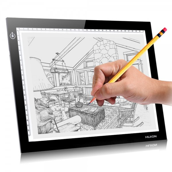 "HUION 17.7"" Graphic LED Light Pad Animation Drawing Tablets Tracing Tattoo Trackpad Painting Plates"