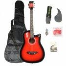 Basswood Guitar + Bag + Straps + Picks + LCD Tuner + Pickguard + String Set Red