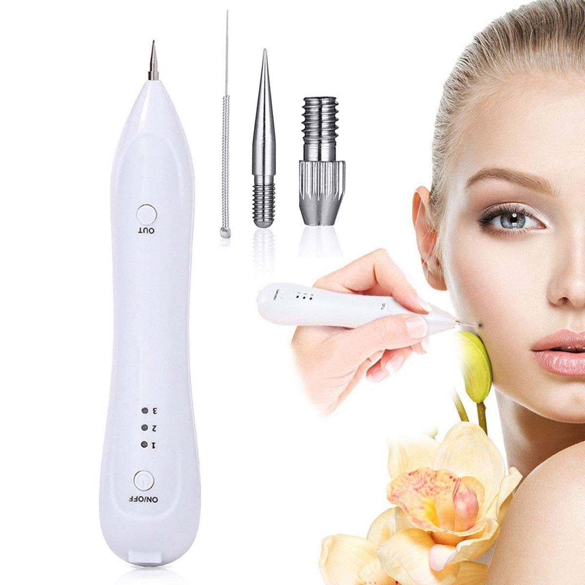 USB Charging Beauty Age Spot Removal Pen Mole Warts Freckle Remover Machine