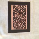 Abstract Block Print Matted