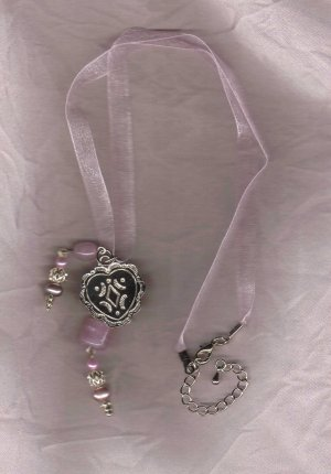 I HAVE HEART pink ribbon charm necklace