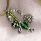 WEALTH new jade,crystal, glass ribbon necklace