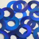 Blue Lazersheen Sequin Circle Donut 1.5 inch Large Couture Paillettes