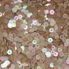 5mm Flat SEQUIN PAILLETTES ~ Beige Opaque RAINBOW IRIS IRIDESCENT ~ USA