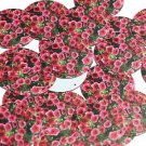 "Round Sequin 1.5"" Pink Petunia Floral Flower Opaque"