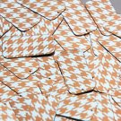 "Rectangle Sequin 1.5"" Orange Silver Houndstooth Pattern Metallic"