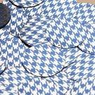 """Round Sequin 1.5"""" Blue Silver Houndstooth Pattern Metallic"""