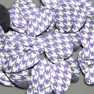 """Oval Sequin 1.5"""" Purple Silver Houndstooth Pattern Metallic"""