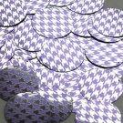 """Round Sequin 1.5"""" Purple Silver Houndstooth Pattern Metallic"""