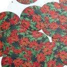 "Round Sequin 1.5"" Red Zinnia Floral Flower Opaque"