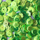 8mm Cup SEQUIN FACET PAILLETTES ~ LIME GREEN Metallic ~ Made in USA