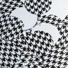 "Round Sequin 1.5"" Black White Houndstooth Pattern Opaque"