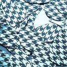 "Teardrop Sequin 1.5"" Black Silver Houndstooth Pattern Metallic"