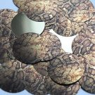 "Round Sequin 1.5"" Gold Brown Snakeskin Reptile Pattern Metallic"