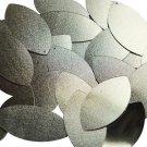 "Navette Leaf Sequin 1.5"" Matte Gold Linen Texture Metallic"