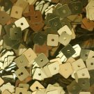 Square Sequin 5mm Gold Metallic. Made in USA