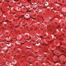 6mm Cup Sequins Deep Coral Opaque. Made in USA