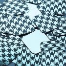 "Square Diamond Sequin 1.5"" Black Silver Houndstooth Pattern Metallic"
