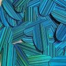 "Aqua City Lights Reflective Metallic Sequins Oval 1.5"" Large Couture Paillettes"