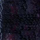 "Navy Midnight Blue Sequin Trim 6mm 1/4"" wide stitched, strung by the yard 15'"
