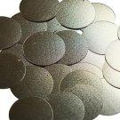 30mm Sequins Matte Gold Linen Texture Metallic