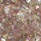 6mm Sequins Topaz Dark Amber Semi Frost Rainbow. Made in USA