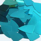 Teal Blue Green Metallic Fishscale Fin 1.5 inch Couture Sequin Paillettes