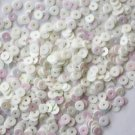 4mm Flat SEQUIN PAILLETTES ~ AURORA PEARL WHITE Iridescent ~ Made in USA