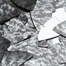 "Fishscale Fin Sequin 1.5"" Digi Ice Camo Camouflage Gray Black Metallic"