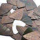 """Fishscale Fin Sequin 1.5"""" Deep Brown Distressed Crocodile Print Metallic"""