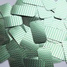 "Rectangle Sequin 1.5"" Green Silver Chevron Zig Zag Pattern Metallic"