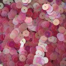 6mm Flat SEQUIN PAILLETTES ~ PINK CRYSTAL Rainbow Iris Iridescent ~ Made in USA