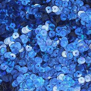 5mm Flat SEQUIN PAILLETTES ~ Royal Blue PRISM MULTI Reflective METALLIC ~ USA
