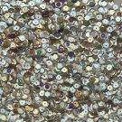 Cup Sequin 6mm Loose Silver Metallic Iris Rainbow Iridescent Made in USA