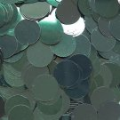 """Sequins Deep Forest Green Metallic 24mm (1"""") Flat Round Top Hole Paillettes"""