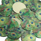 30mm Sequins Peacock Feather Eye Blue Green Gold Metallic