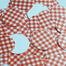 30mm Sequins Red White Gingham Plaid Checker Pattern Opaque