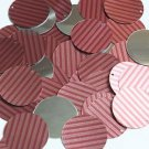 30mm Sequins Red Pink Corrugated Stripe Metallic