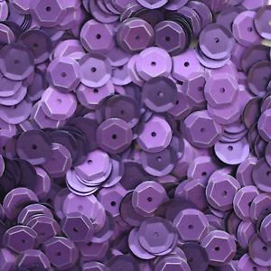 8mm Cup Sequins Purple Matte Silk Frost. Made in USA
