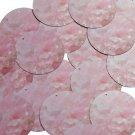 """Round Sequin 1.5"""" Rose Quartz Crystal Gems Opaque"""