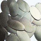 """Oval Sequin 1.5"""" Matte Gold Linen Texture Metallic"""