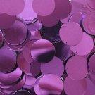 "Deep Purple Metallic Sequins 24mm (1"") Flat Round Top Hole Loose Paillettes"