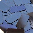 Navy Blue Metallic Sequins Rectangle 1.5 inch Couture Paillettes