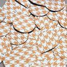"Teardrop Sequin 1.5"" Orange Silver Houndstooth Pattern Metallic"