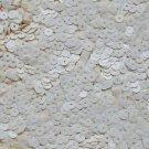 5mm Flat Sequin ~ Opaque Eggshell White ~ Loose Paillette Made in USA