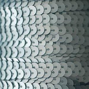 Sequin Trim 6mm Light Blue Matte Silk Frost. Made in USA