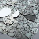 "Teardrop Sequin 1.5"" Gray Stone Rocks Pebbles Gravel Silver Metallic"